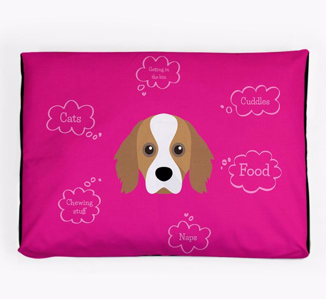 Personalised 'Sweet Dreams' Dog Bed for your Cavapom