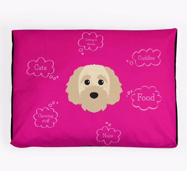 Personalised 'Sweet Dreams' Dog Bed for your Cavapoochon
