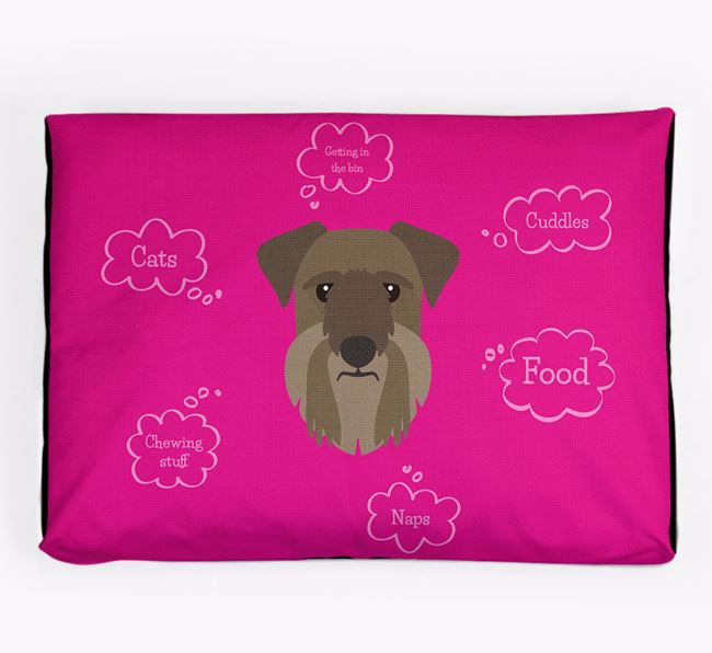 Personalised 'Sweet Dreams' Dog Bed for your Cesky Terrier