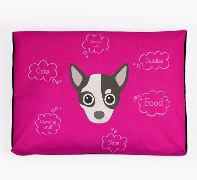 Personalised 'Sweet Dreams' Dog Bed for your Chihuahua