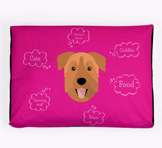 Personalised 'Sweet Dreams' Dog Bed for your Chinook