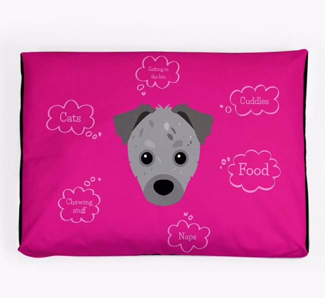 Personalised 'Sweet Dreams' Dog Bed for your Chipoo