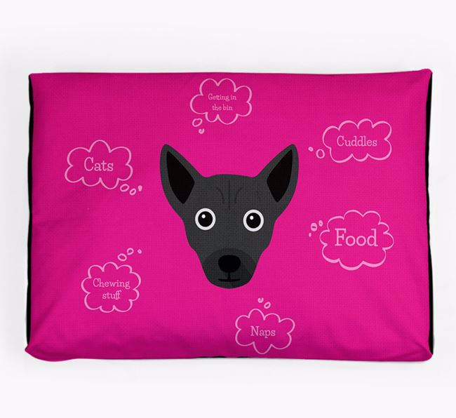 Personalised 'Sweet Dreams' Dog Bed for your Chi Staffy Bull