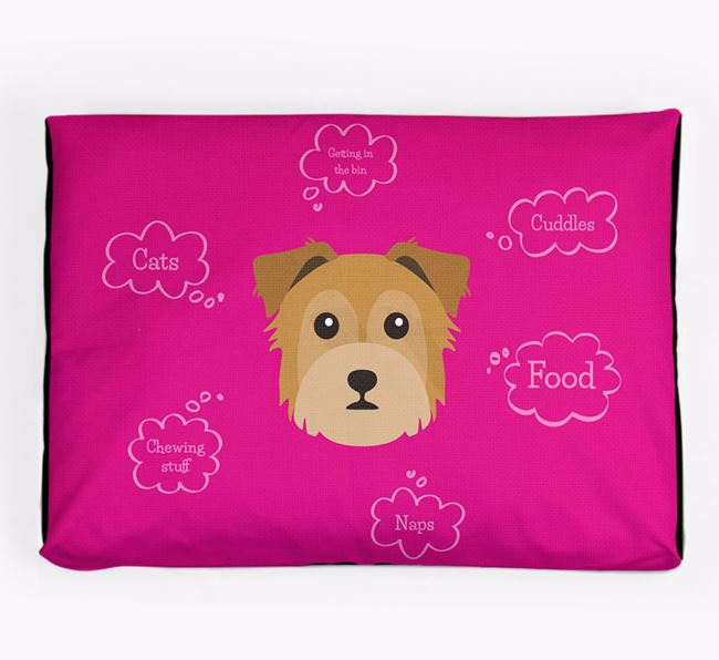 Personalised 'Sweet Dreams' Dog Bed for your Chorkie