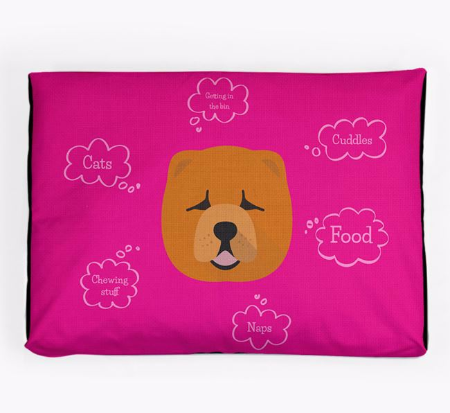 Personalised 'Sweet Dreams' Dog Bed for your Chow Chow