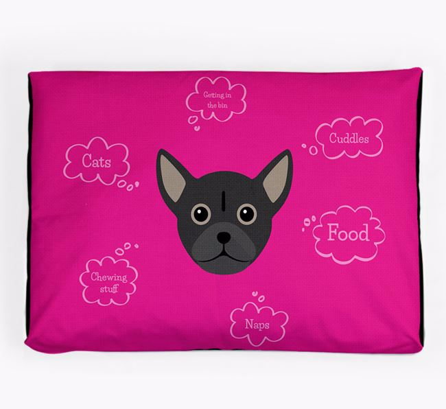 Personalised 'Sweet Dreams' Dog Bed for your Chug