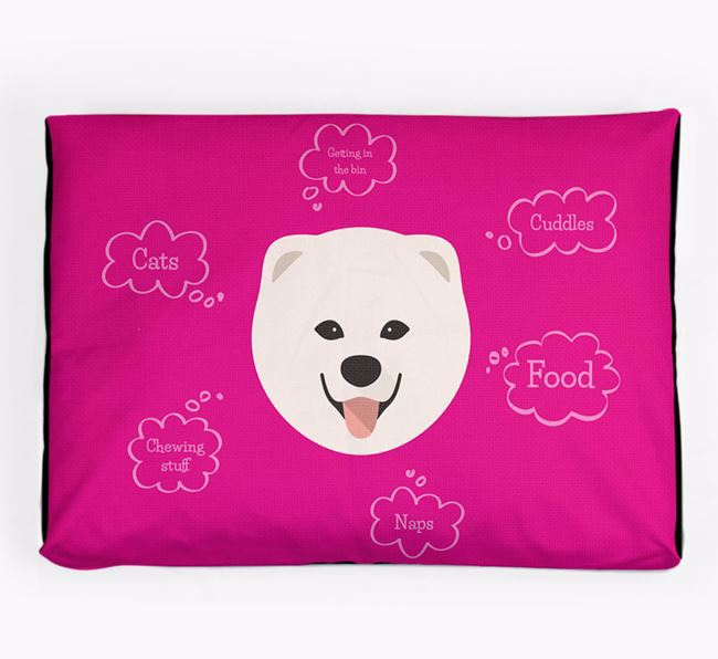 Personalised 'Sweet Dreams' Dog Bed for your Chusky