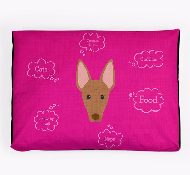 Personalised 'Sweet Dreams' Dog Bed for your Cirneco Dell'Etna