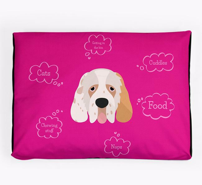 Personalised 'Sweet Dreams' Dog Bed for your Clumber Spaniel