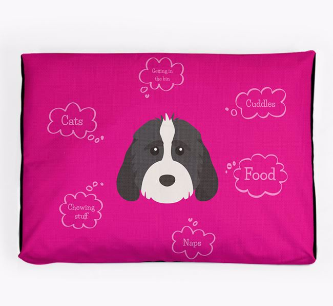 Personalised 'Sweet Dreams' Dog Bed for your Cockapoo