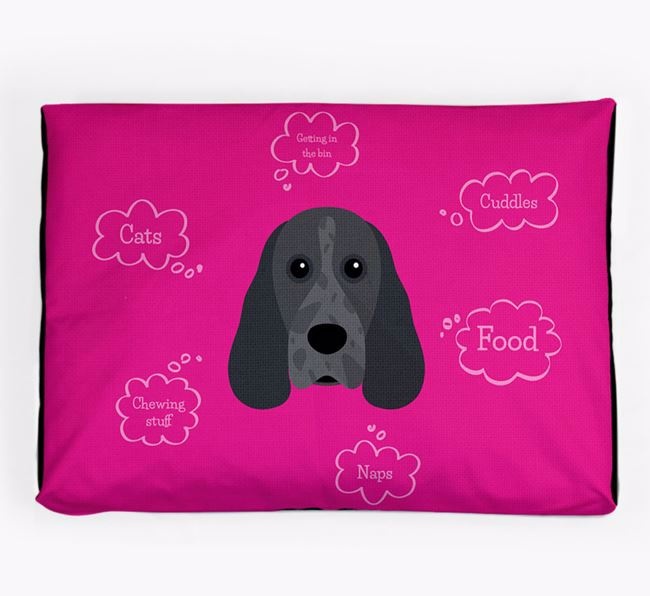 Personalised 'Sweet Dreams' Dog Bed for your Cocker Spaniel