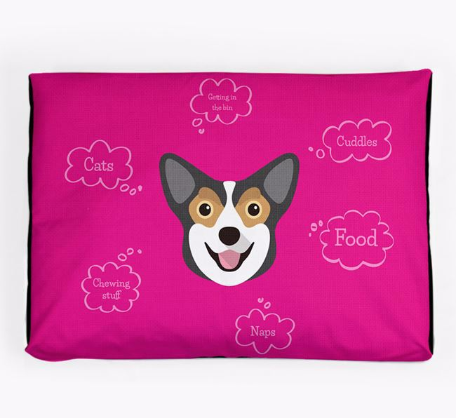 Personalised 'Sweet Dreams' Dog Bed for your Corgi