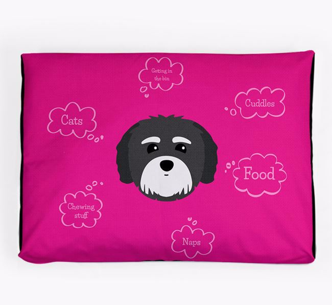Personalised 'Sweet Dreams' Dog Bed for your Coton De Tulear