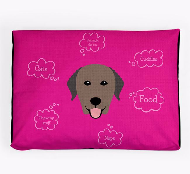 Personalised 'Sweet Dreams' Dog Bed for your Curly Coated Retriever