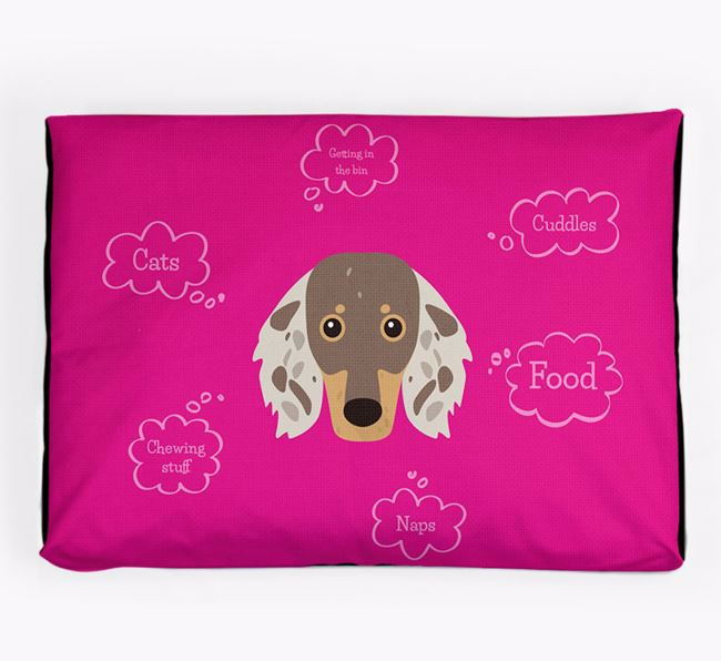 Personalised 'Sweet Dreams' Dog Bed for your Dachshund