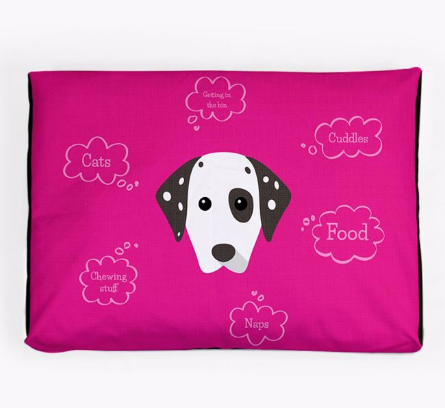 Personalised 'Sweet Dreams' Dog Bed for your Dalmatian