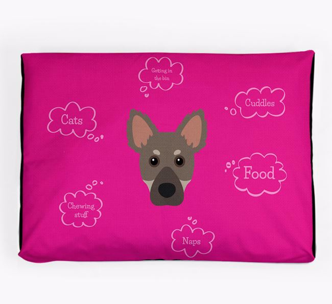 Personalised 'Sweet Dreams' Dog Bed for your Dameranian