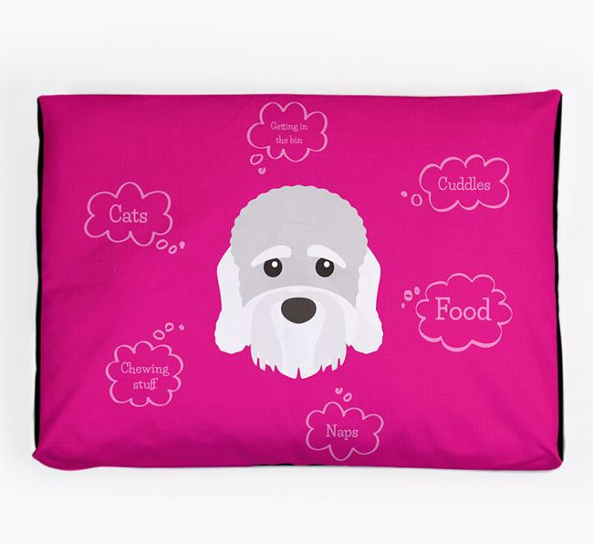 Personalised 'Sweet Dreams' Dog Bed for your Dandie Dinmont Terrier
