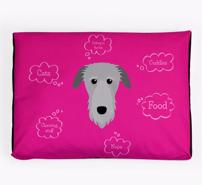 Personalised 'Sweet Dreams' Dog Bed for your Deerhound