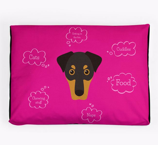 Personalised 'Sweet Dreams' Dog Bed for your Dobermann