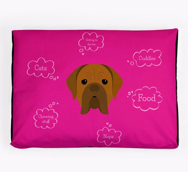 Personalised 'Sweet Dreams' Dog Bed for your Dogue de Bordeaux