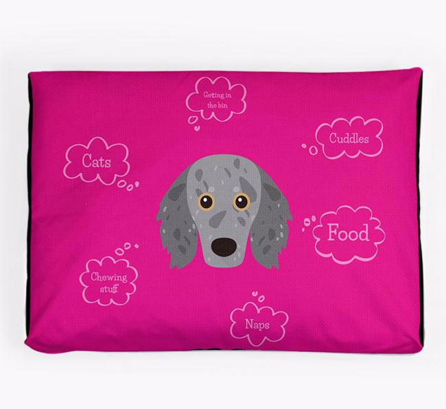 Personalised 'Sweet Dreams' Dog Bed for your Doxiepoo