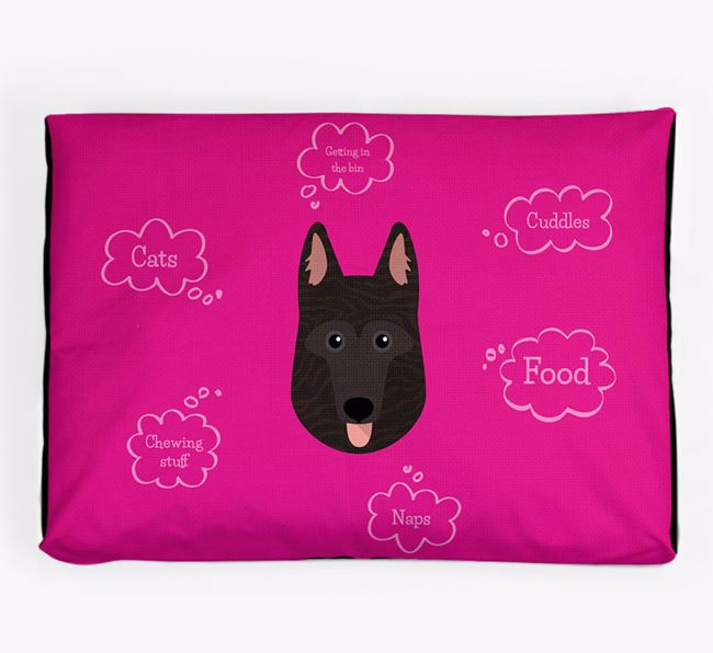 Personalised 'Sweet Dreams' Dog Bed for your Dutch Shepherd