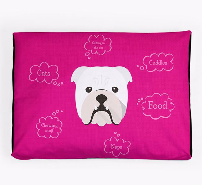 Personalised 'Sweet Dreams' Dog Bed for your English Bulldog