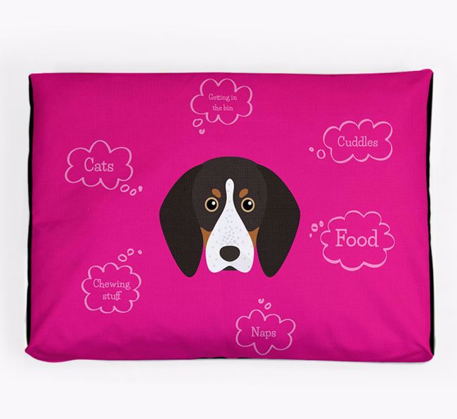 Personalised 'Sweet Dreams' Dog Bed for your English Coonhound