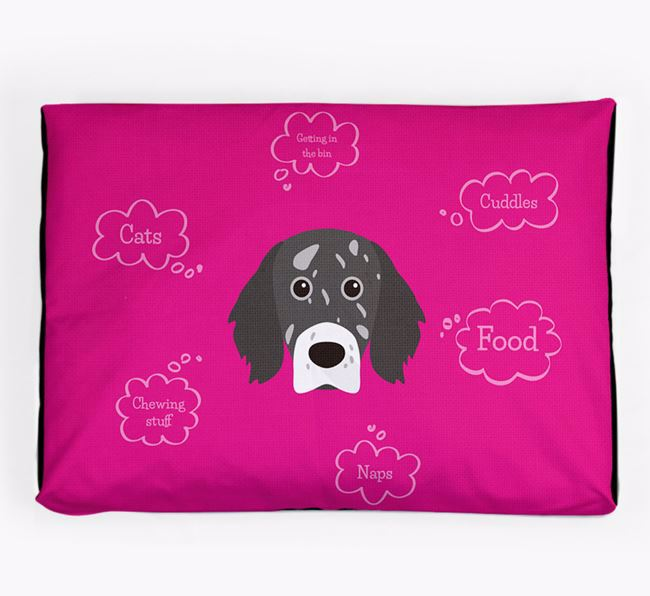 Personalised 'Sweet Dreams' Dog Bed for your English Setter