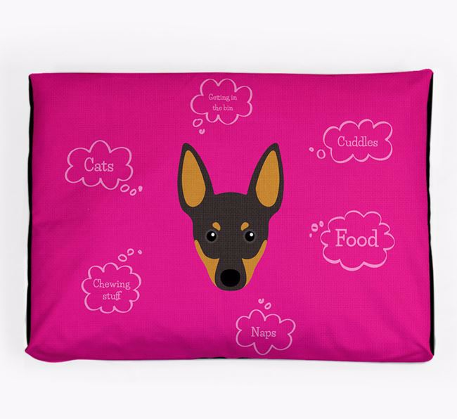Personalised 'Sweet Dreams' Dog Bed for your English Toy Terrier