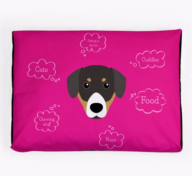 Personalised 'Sweet Dreams' Dog Bed for your Entlebucher Mountain Dog
