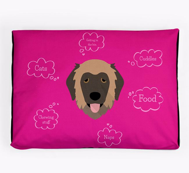 Personalised 'Sweet Dreams' Dog Bed for your Estrela Mountain Dog
