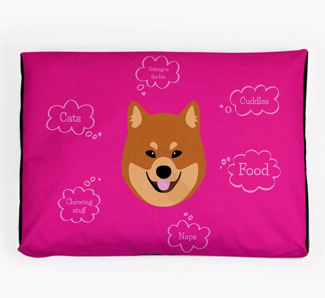 Personalised 'Sweet Dreams' Dog Bed for your Eurasier