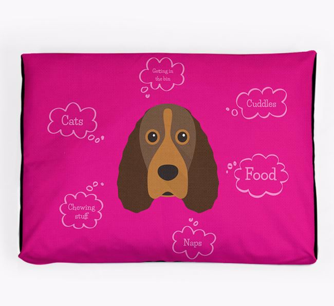 Personalised 'Sweet Dreams' Dog Bed for your Field Spaniel