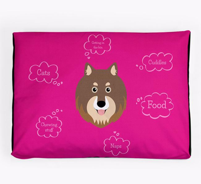 Personalised 'Sweet Dreams' Dog Bed for your Finnish Lapphund