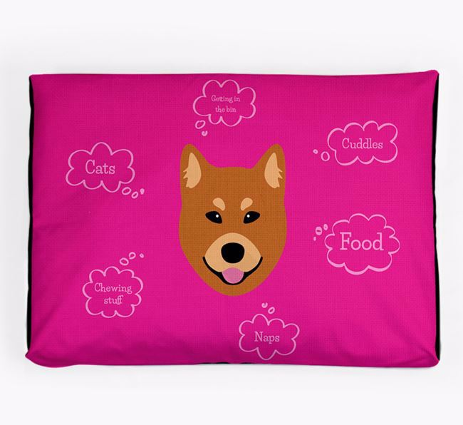 Personalised 'Sweet Dreams' Dog Bed for your Finnish Spitz