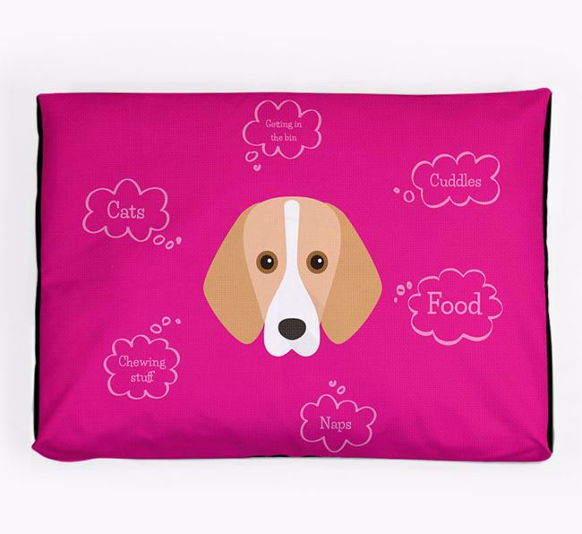 Personalised 'Sweet Dreams' Dog Bed for your Foxhound