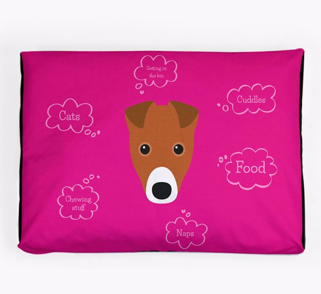 Personalised 'Sweet Dreams' Dog Bed for your Fox Terrier