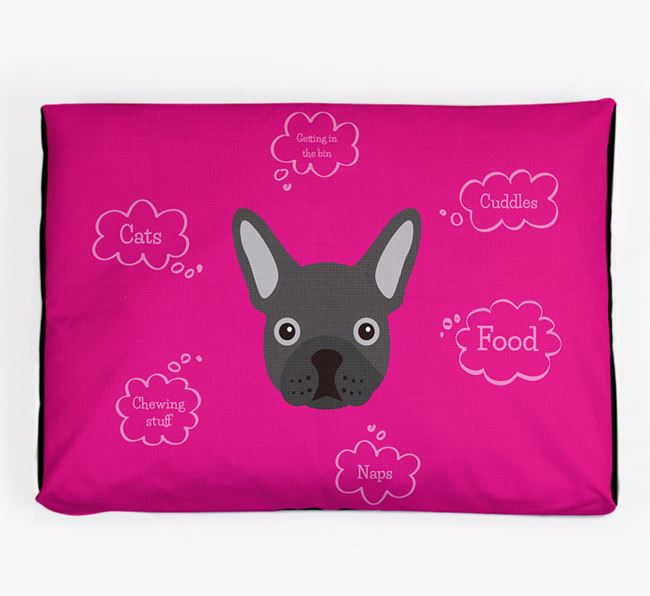 Personalised 'Sweet Dreams' Dog Bed for your French Bulldog