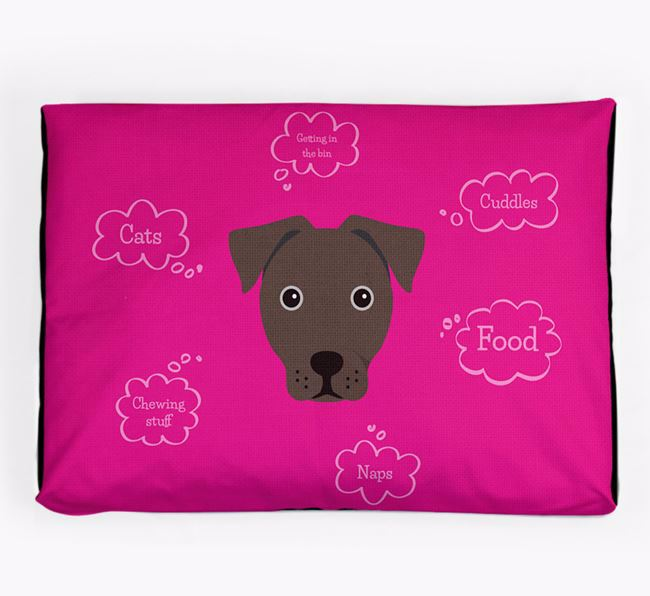 Personalised 'Sweet Dreams' Dog Bed for your French Bull Jack