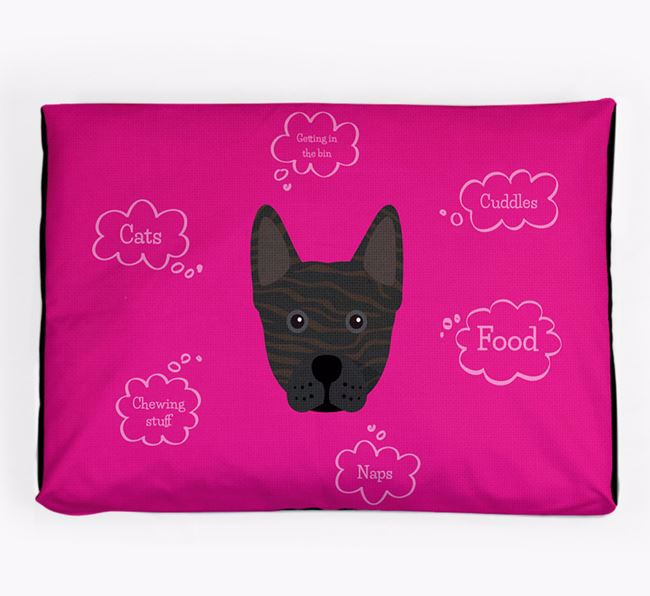 Personalised 'Sweet Dreams' Dog Bed for your Frenchie Staff