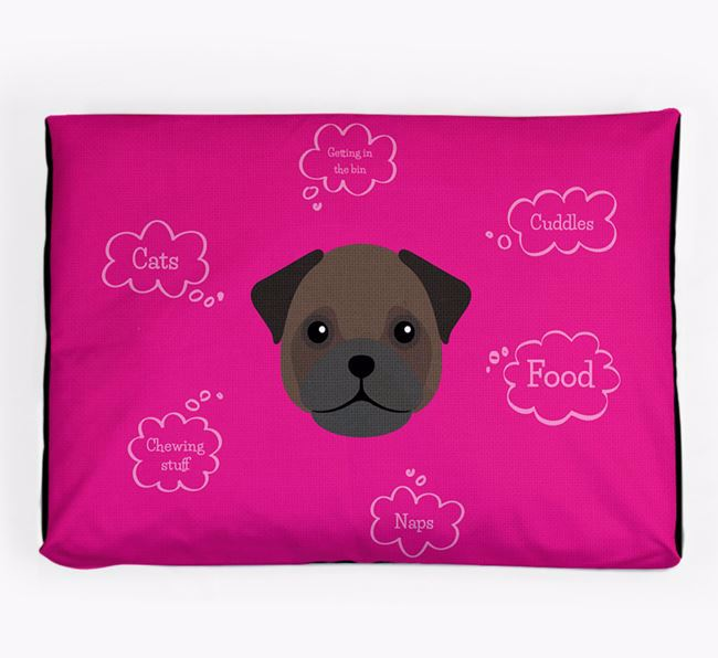 Personalised 'Sweet Dreams' Dog Bed for your Frug