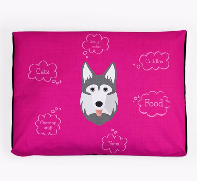 Personalised 'Sweet Dreams' Dog Bed for your Gerberian Shepsky