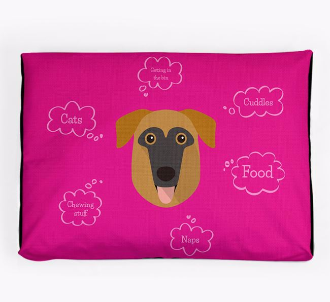 Personalised 'Sweet Dreams' Dog Bed for your German Sheprador