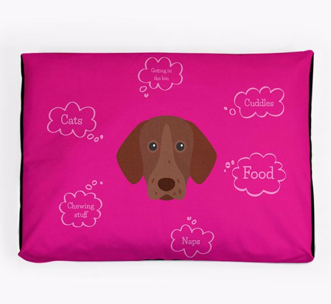 Personalised 'Sweet Dreams' Dog Bed for your German Shorthaired Pointer