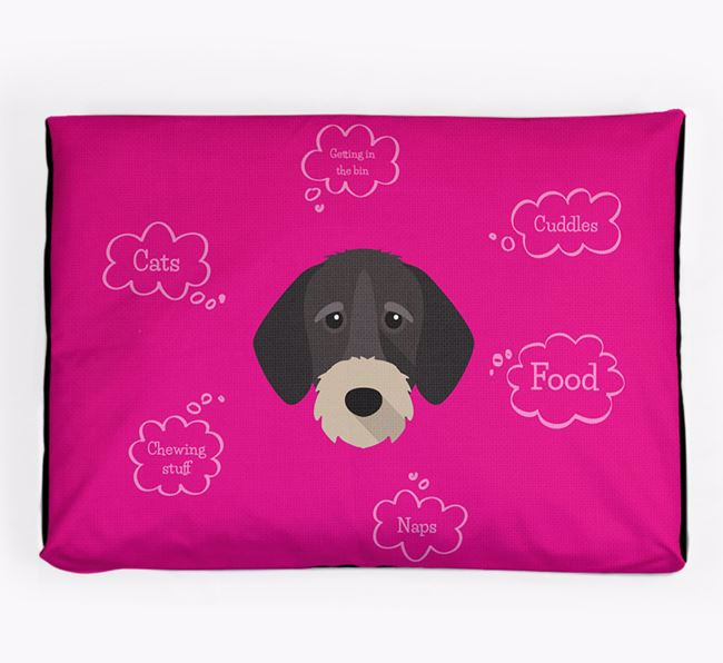 Personalised 'Sweet Dreams' Dog Bed for your German Wirehaired Pointer