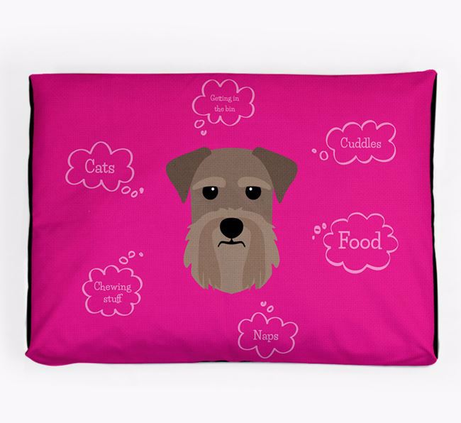 Personalised 'Sweet Dreams' Dog Bed for your Giant Schnauzer