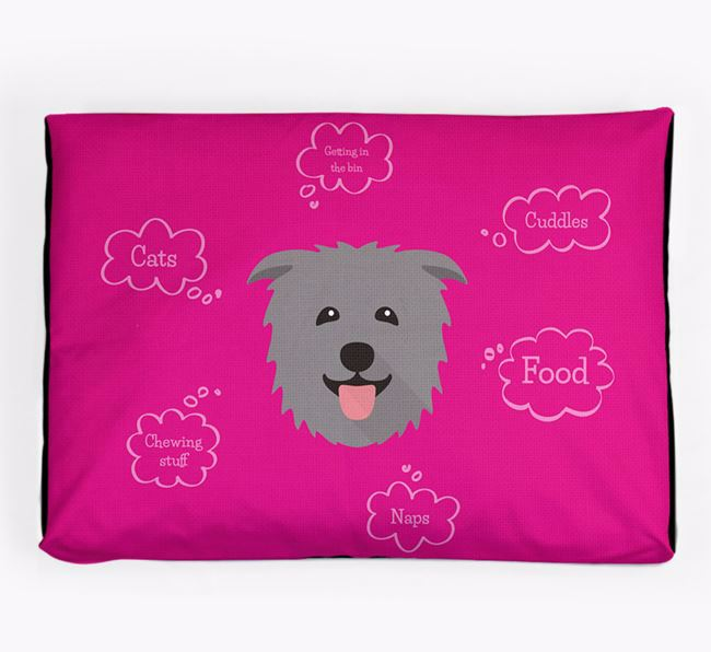 Personalised 'Sweet Dreams' Dog Bed for your Glen Of Imaal Terrier