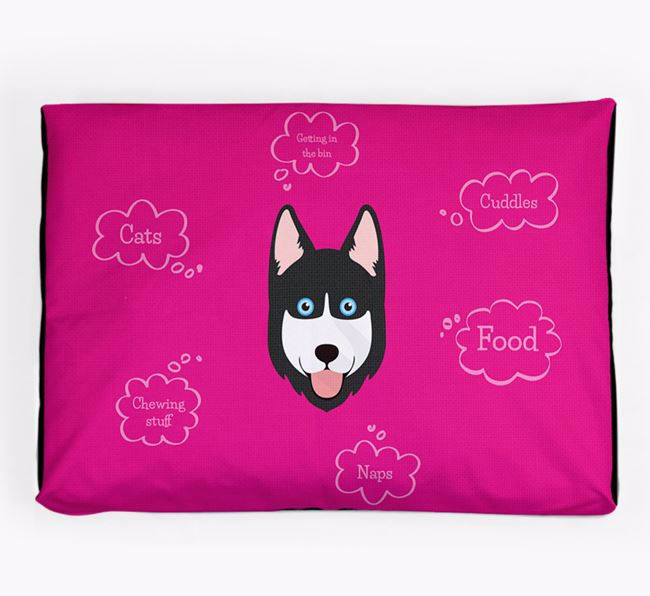 Personalised 'Sweet Dreams' Dog Bed for your Goberian